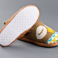 Knitted Clog Owl Slippers | Animal Slippers | BunnySlippers.com
