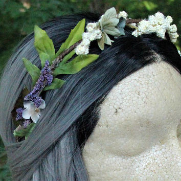 Spring/Summer * Floral Hair Piece * Headband * Hair Crown * Hair Wreath * Easter * Witchcraft * Wicca * Pagan * Pastel Goth * Fairy * Mori *