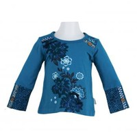 Naartjie Kids | Baby Girl Clothes | Naartjie Baby Girl Clothes | Glitter & Floral Graphic Top With Print Cuffs