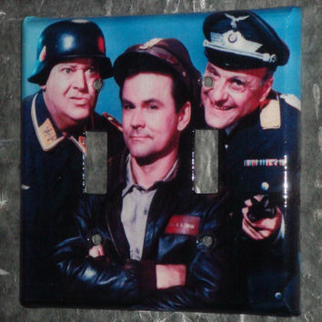 Hogan's Heroes: light switch cover plate (dual toggle)