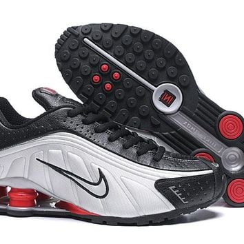 Nike Shox Black Silver Red Men Fashion Casual Running Sneakers Sport Shoes Size 40-46