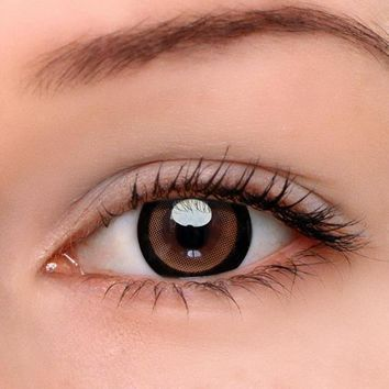 EyeDream® Eye Circle Lens Moonlight Brown Colored Contact Lenses