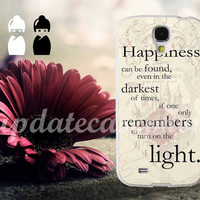 happiness quote harry potter - Photo Print for iPhone 4/4s, iPhone 5/5S/5C, Samsung S3 i9300, Samsung S4 i9500 Hard Case