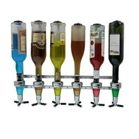 Wall Mounted Liquor Dispenser 6-station Bar Liquor Butler Professional Drinking Pourer for Beer, Soda and Coke