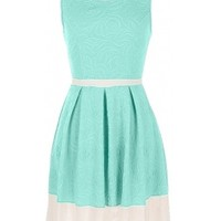 Floral Colorblock Dress