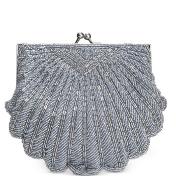 La Regale Shell Beaded Evening Clutch