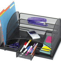 Safco Onyx Desk Organizer with Three Drawers