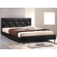 Barbara Soft Black Tufted Upholstered Queen Size Bed