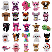 Ty Beanie Boos Plush Animal Dolls Toys Owl Unicorn Cat Elephant Penguin Leopard Foxy Dog Rabbit Giraffe Panda Monkey Baby Girl