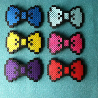 8 Bit Bow: Pick Your Color Perler Bow