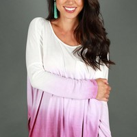 California Girl Ombre Top in Purple