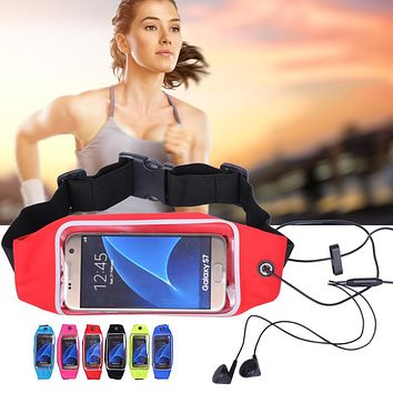 Waterproof Running Sports Waist Bag Pouch For iPhone 7 Plus 6 Plus For Samsung Galaxy J5 2016 For Xiaomi Redmi Note 3 Pro Case