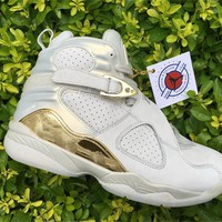 Air Jordan 8 Champagne Basketball Shoes 40-47