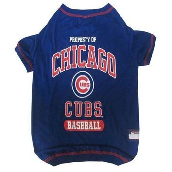 PEAPYW9 Chicago Cubs Pet T-Shirt