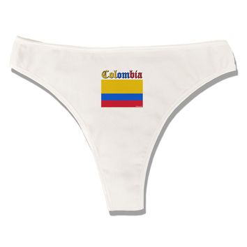 Colombia Flag Womens Thong Underwear