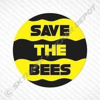 Save The Bees Bumper Sticker Vinyl Decal Environmental Awareness Macbook Sticker