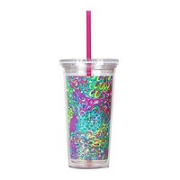 Tumbler with Straw in Lilly's Lagoon by Lilly Pulitzer
