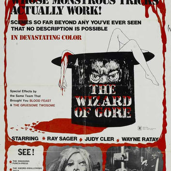 The Wizard of Gore 11x17 Movie Poster (1970)