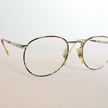 80s Gold/Blonde Tortoise Wire Glasses