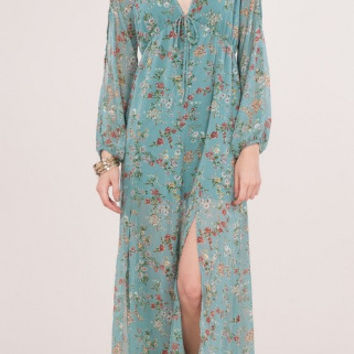 Keep The Pace Maxi Dress- Dusty Blue