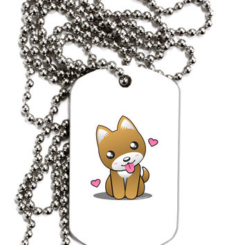 Kawaii Puppy Adult Dog Tag Chain Necklace