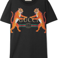Gucci - Oversized printed cotton-jersey T-shirt
