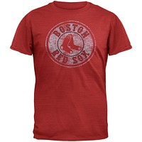 Boston Red Sox - Logo Scrum Red Premium T-Shirt