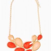 Double Teardrop Statement Necklace - JUST ARRIVED