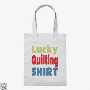 Lucky Quilting, Sewing Tote Bag