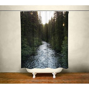 Montana River Shower Curtain