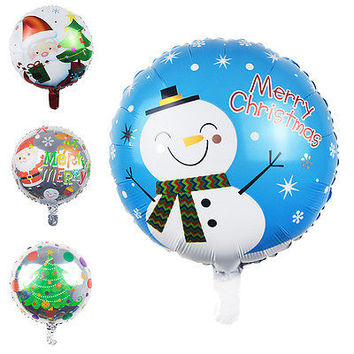 1 X Christmas Tree Santa Claus Snowman Foil Balloons Fun Toys Party Decor HUCA
