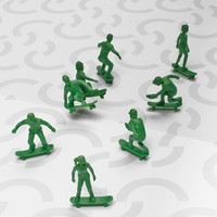 Men's Toy Boarders '2 Skate' Action Figure 24-Pack