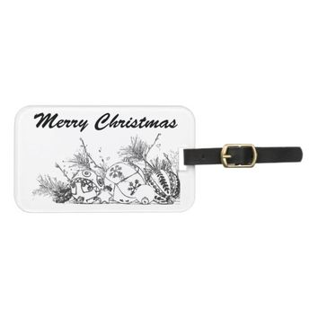 Luggage Tag with Card Slot - Merry Christmas