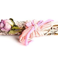 Aphrodite Rose Infused Mugwort Smudge Stick