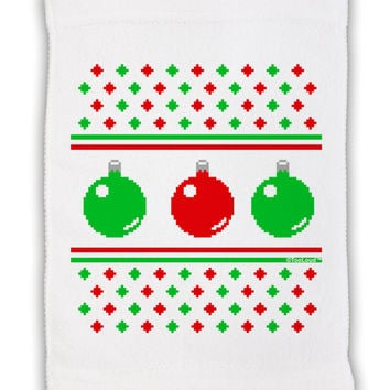 """Ugly Christmas Sweater Ornaments Micro Terry Sport Towel 11""""x18"""