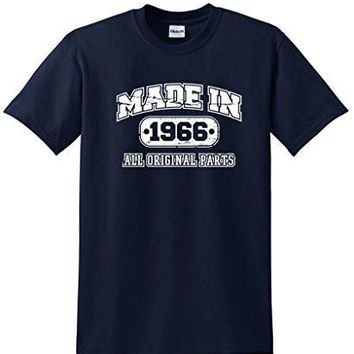 50th Birthday T Shirt Made In 1966 Vintage Mens Novelty Gift Idea Funny T Shirt