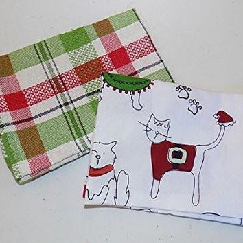 Holiday Cats in Sweaters Dish Towels (Set/2)