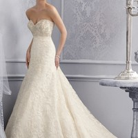 Mori Lee 2678 Lace Fit and Flare Wedding Dress