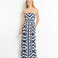 Diamond Print Maxi Dress