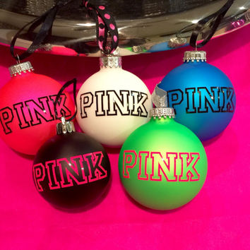 Victoria's Secret PINK Christmas Tree Ornaments