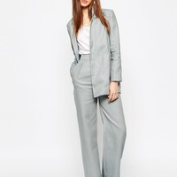 ASOS Wide Leg Suit Trouser in Linen at asos.com