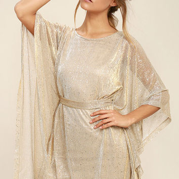 Ladies' Night Gold Kaftan Dress
