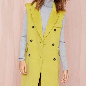 BLQ Basiq Victoria Sleeveless Coat - Lime