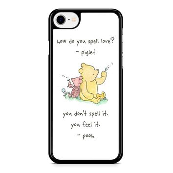 Winnie The Pooh Quote 1 iPhone 8 Case