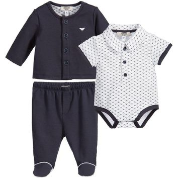 Armani Baby Boys 3-Piece Gift Set