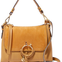See by Chloé - Joan small suede-paneled textured-leather shoulder bag