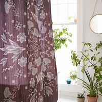 Iveta Abolina For DENY White Floral Shower Curtain- White One