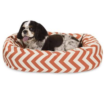 Chevron Sherpa Bagel Bed by Majestic Pet Products