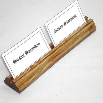 Multiple Business Wood Card Holder, Card Stand,