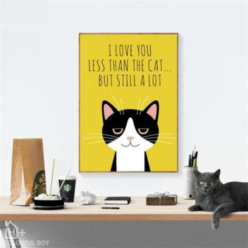 Canvas Wall Art: Black Cats Canvas Wall Art Prints